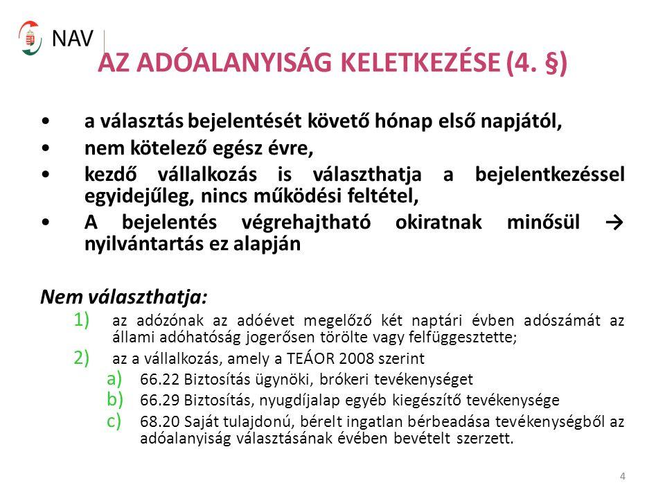 4 AZ ADÓALANYISÁG KELETKEZÉSE (4.