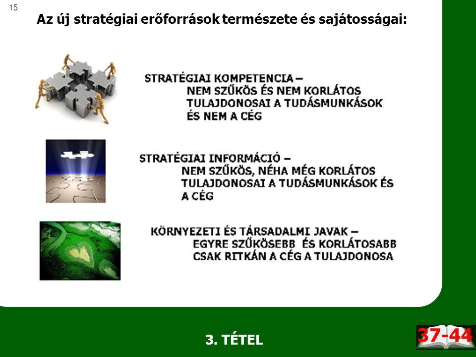 15 Az új stratégiai erőforrások természete és sajátosságai: 3. TÉTEL 37-44