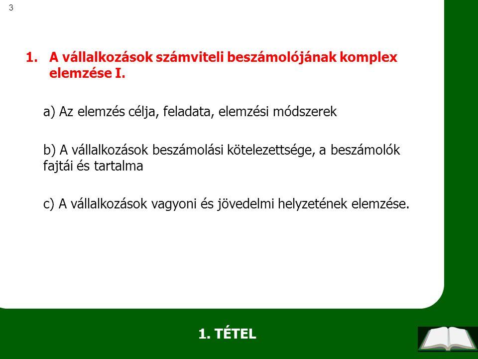 84 c) kérdés Számviteli tv.