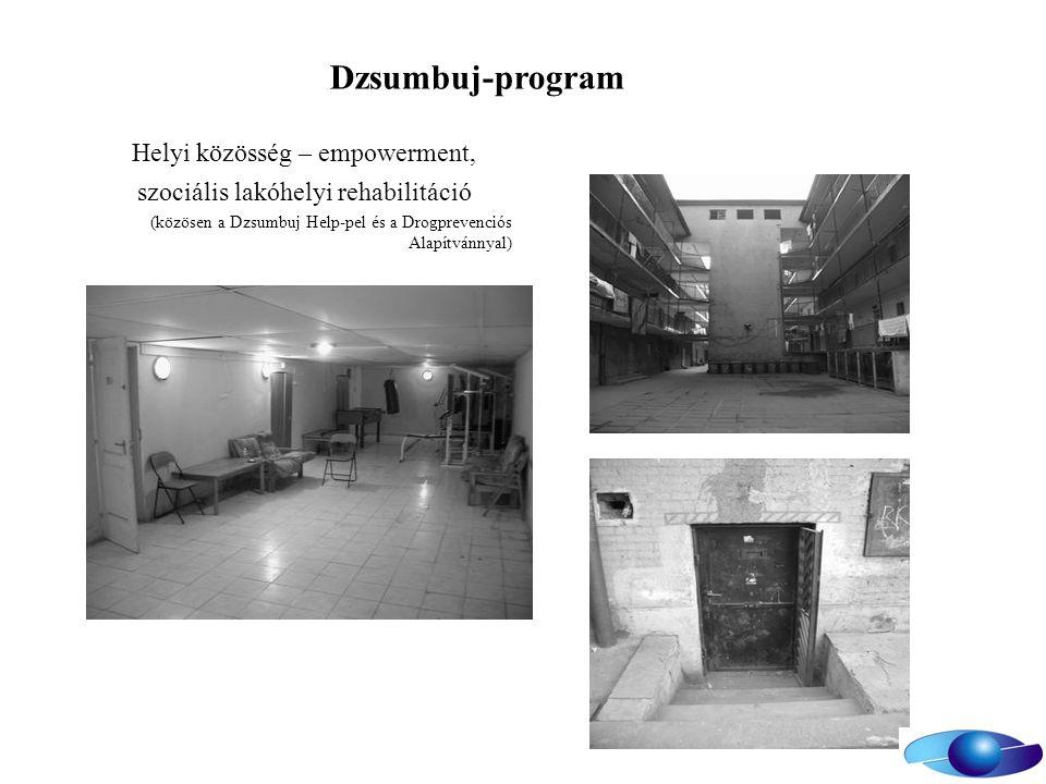 Dzsumbuj-program Helyi közösség – empowerment, szociális lakóhelyi rehabilitáció (közösen a Dzsumbuj Help-pel és a Drogprevenciós Alapítvánnyal)
