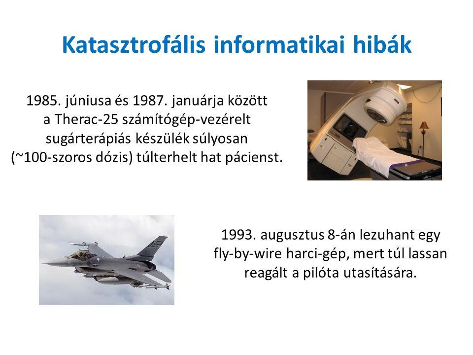 Katasztrofális informatikai hibák 1985. júniusa és 1987.
