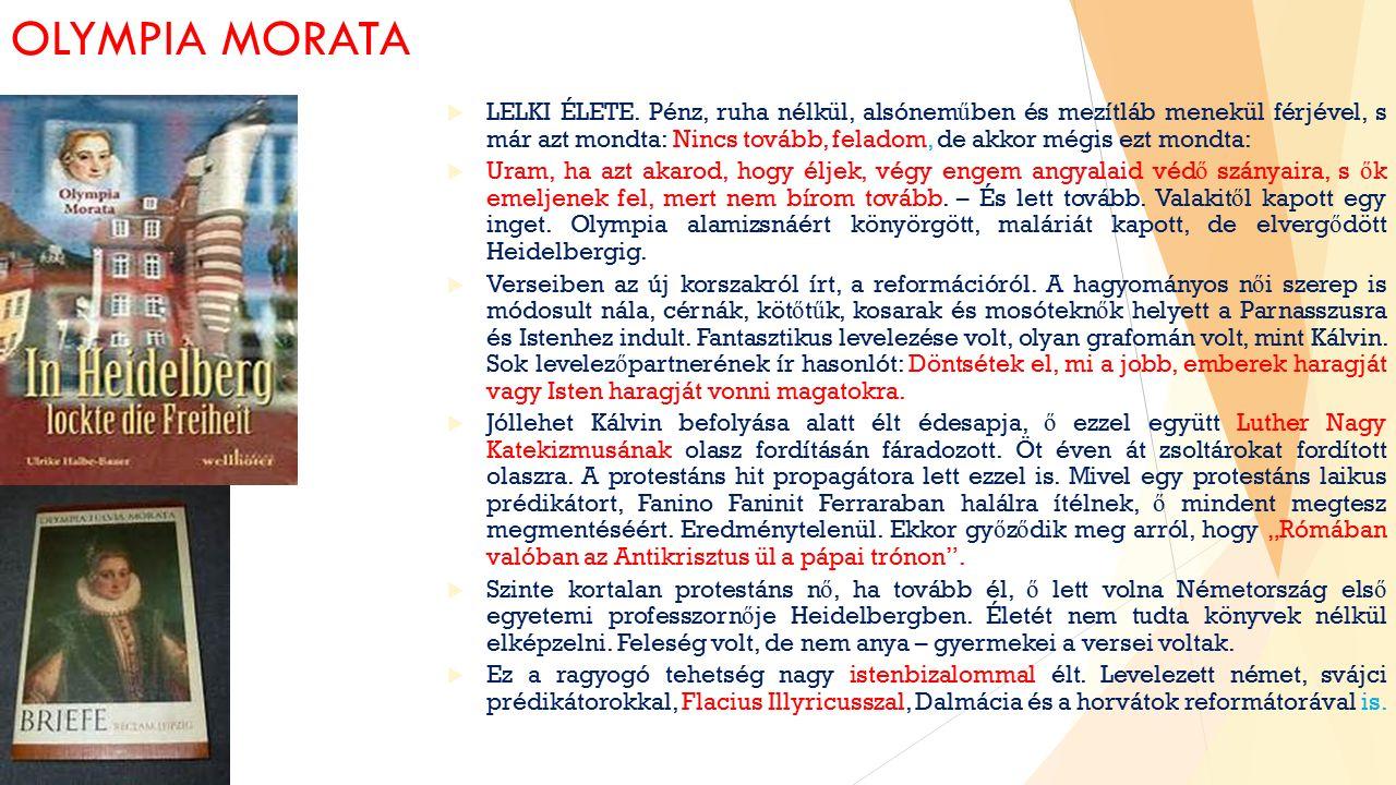 OLYMPIA MORATA  LELKI ÉLETE.