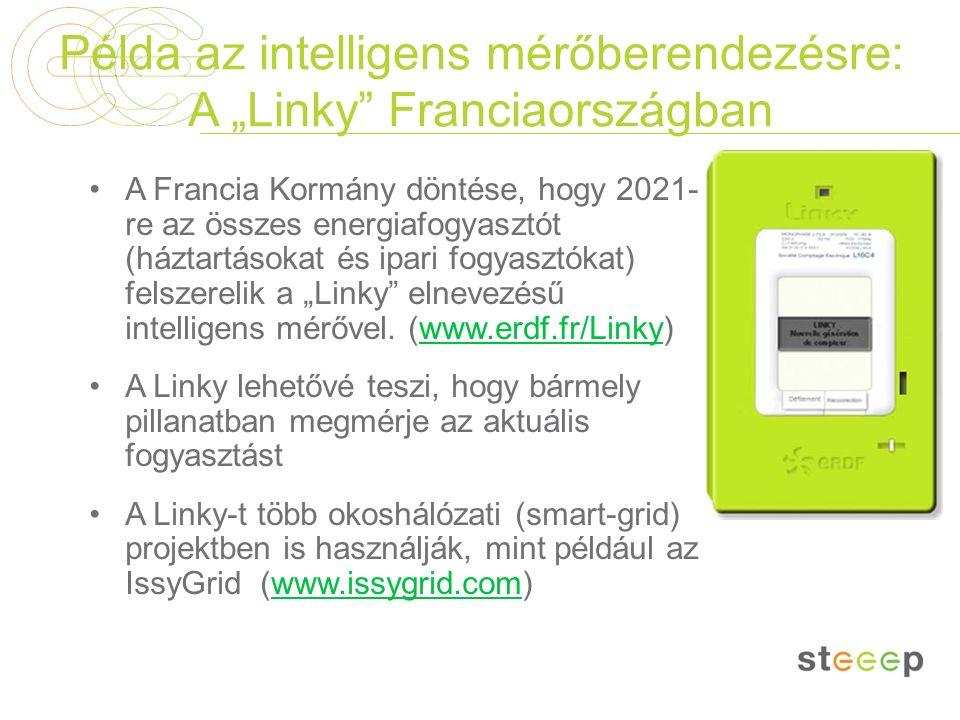 """Példa az intelligens mérőberendezésre: A """"Linky"""" Franciaországban A Francia Kormány döntése, hogy 2021- re az összes energiafogyasztót (háztartásokat"""