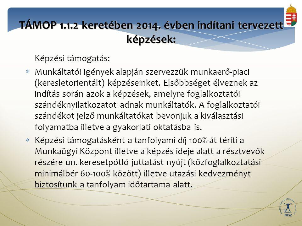 TÁMOP 1.1.2 keretében 2014.