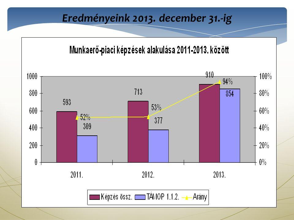 Eredményeink 2013. december 31.-ig