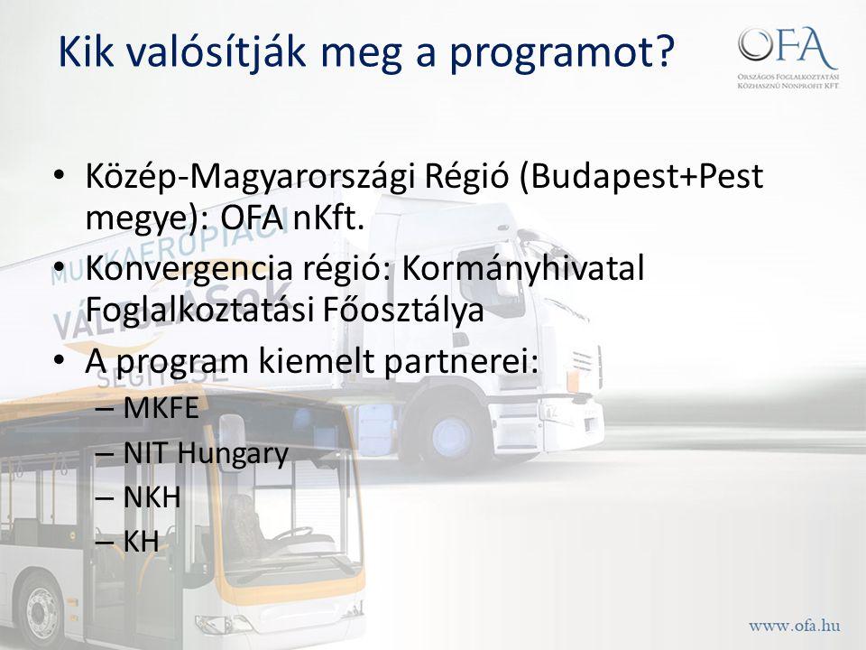 Kik valósítják meg a programot. Közép-Magyarországi Régió (Budapest+Pest megye): OFA nKft.