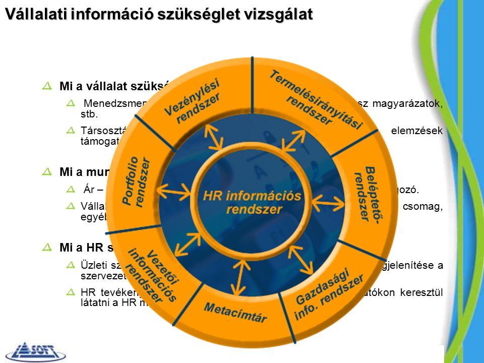 Vállalati információ szükséglet vizsgálat Mi a vállalat szükséglete és igénye.