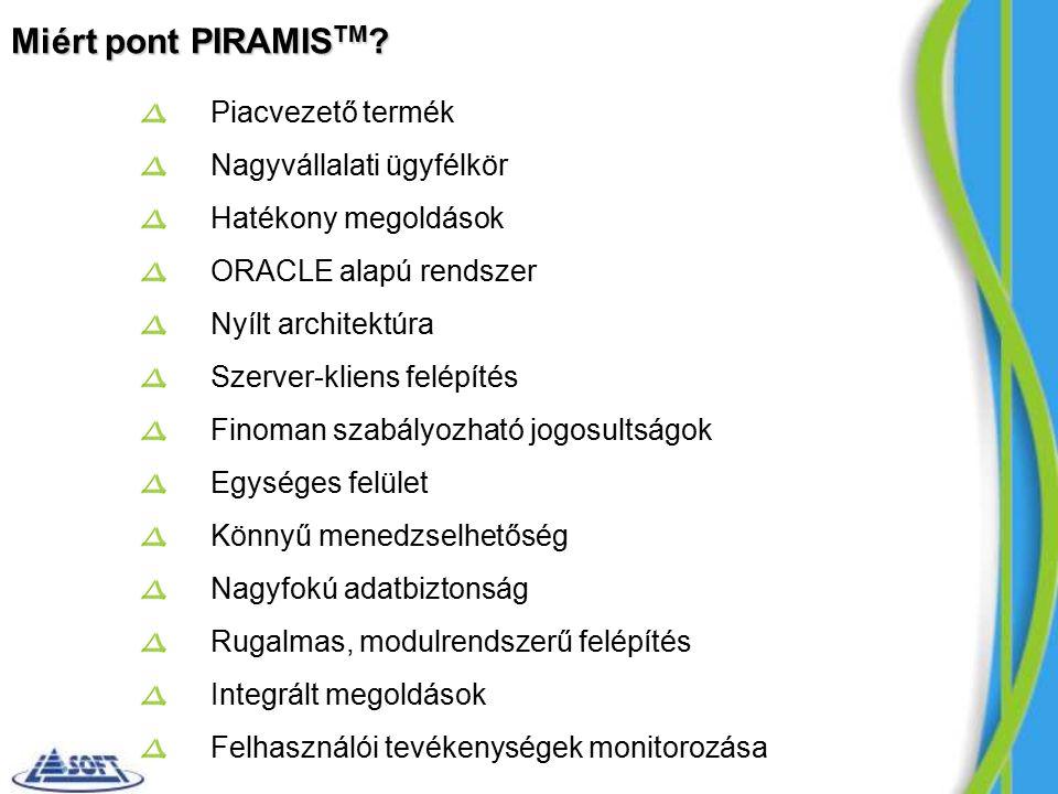 Miért pont PIRAMIS TM .