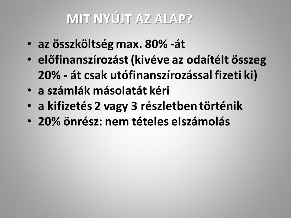 Small Grants (600 000 Euro évente) max. 6.000€ max.