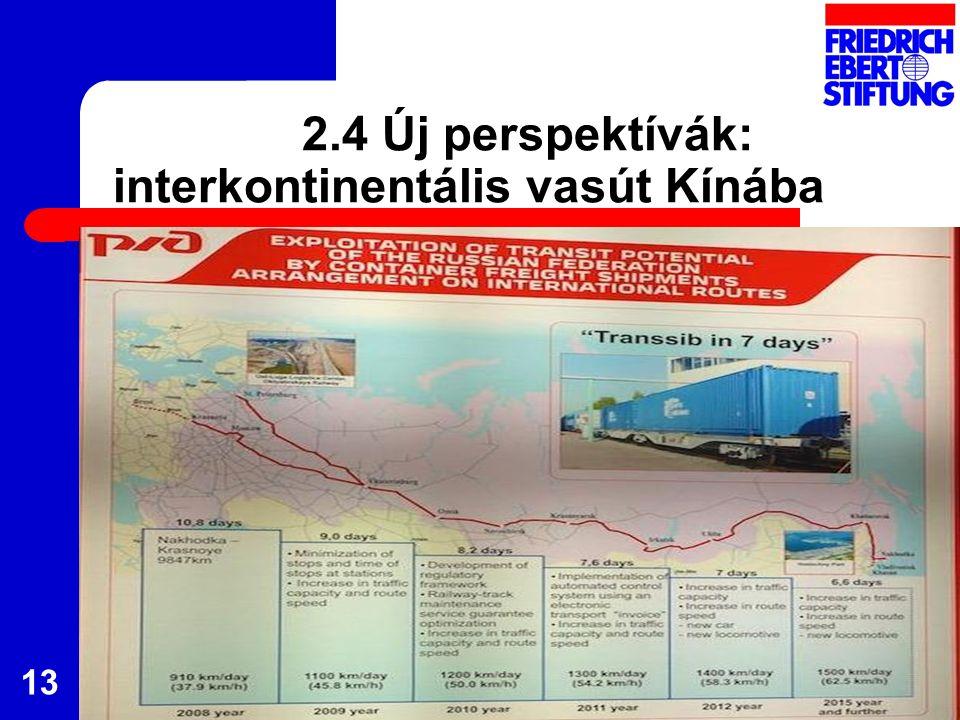 2.4 Új perspektívák: interkontinentális vasút Kínába 13