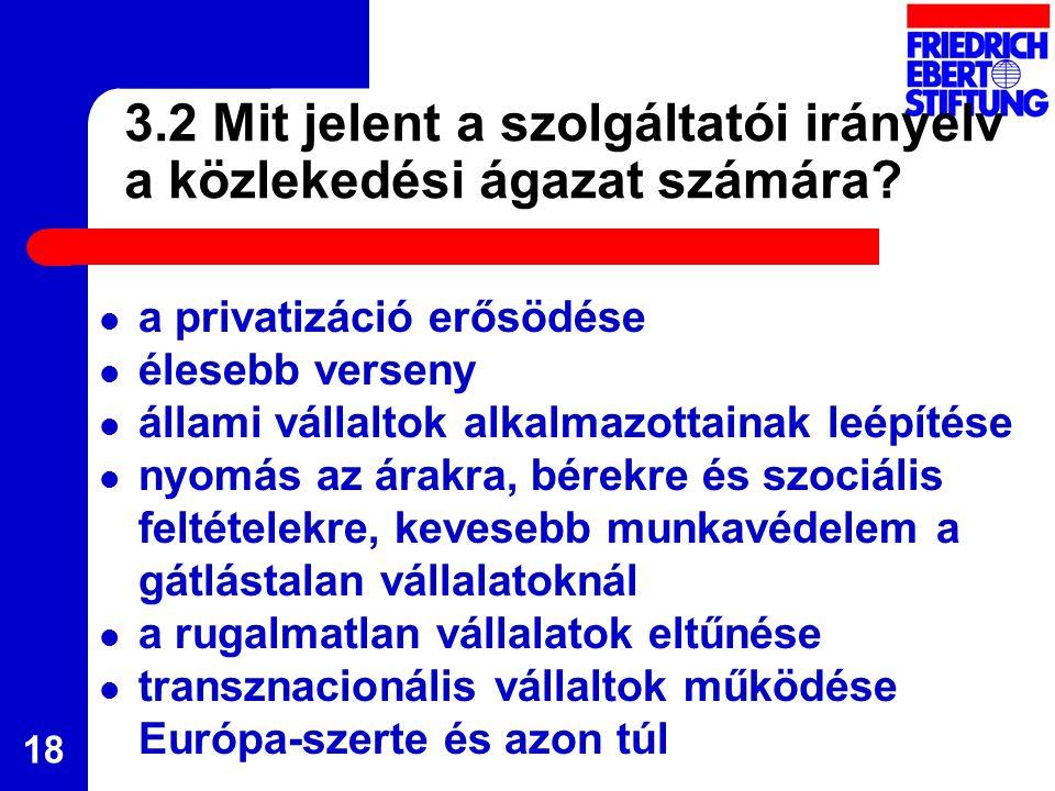 18 3.2 Mit jelent a szolgáltatói irányelv a közlekedési ágazat számára.