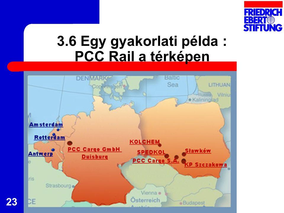 23 3.6 Egy gyakorlati példa : PCC Rail a térképen