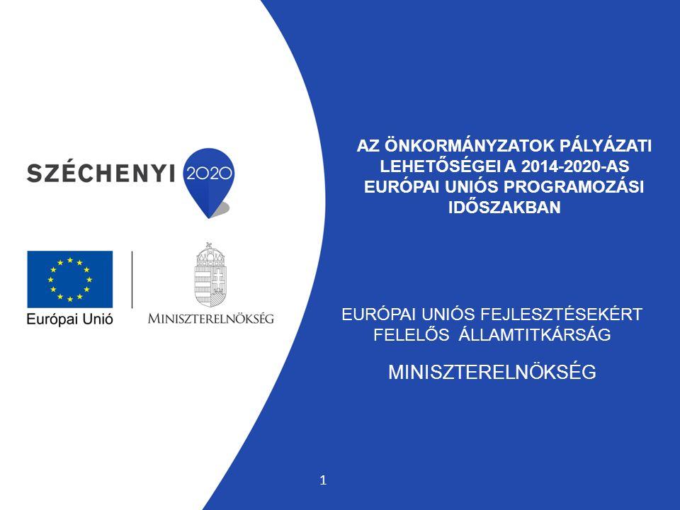 AZ ÖNKORMÁNYZATOK PÁLYÁZATI LEHETŐSÉGEI A 2014-2020-AS EURÓPAI UNIÓS PROGRAMOZÁSI IDŐSZAKBAN EURÓPAI UNIÓS FEJLESZTÉSEKÉRT FELELŐS ÁLLAMTITKÁRSÁG MINISZTERELNÖKSÉG 1