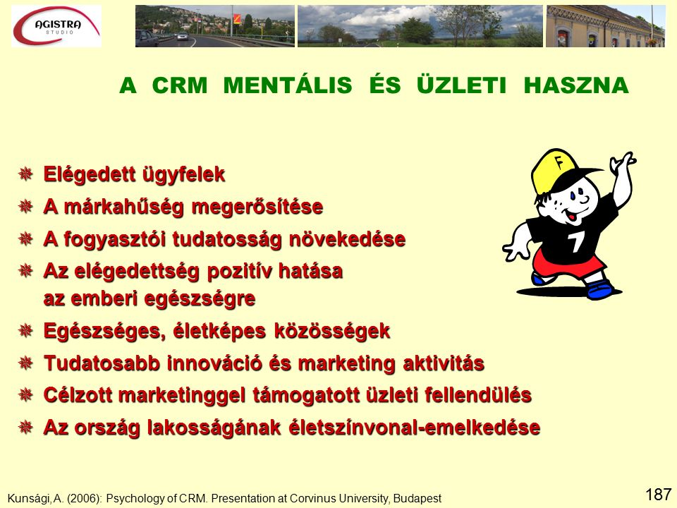 187 Kunsági, A. (2006): Psychology of CRM.