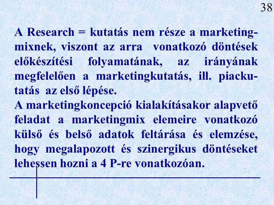 A marketingkommunikációt (Promotion) - ami a reklámot, értékesítés-ösztönzést (SP), közönségkapcsolatokat (PR) és a személyes eladást foglalja magába - szintén csak a piac felderítése alapján szerzett információkból lehet megtervezni, megvalósítani.