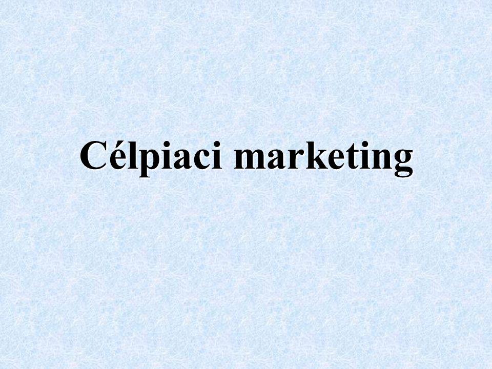 Marketingkoncepciónk szerint a fogyasztó, azaz életmódjának, vásárlási szokásainak megismerése alapján lehet a megfelelő marketingmixet kiala- kítani.
