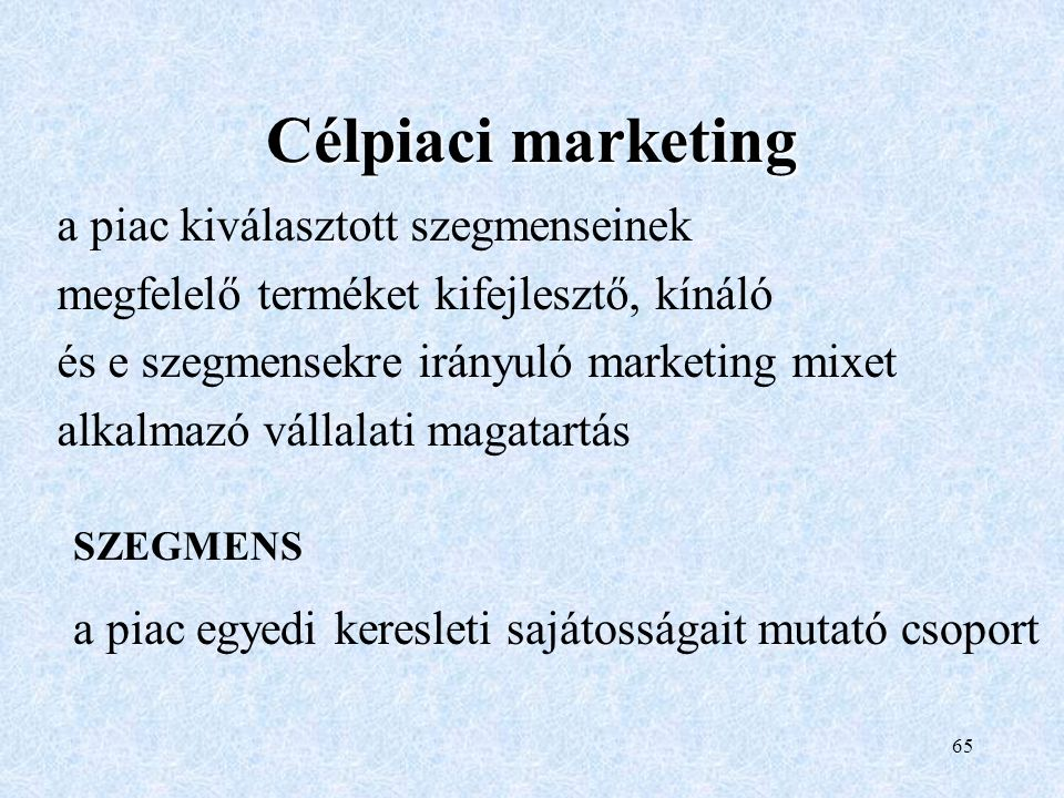 Célpiaci marketing