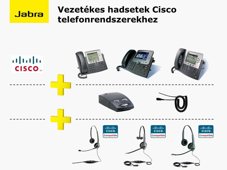 Vezetékes hadsetek Cisco telefonrendszerekhez