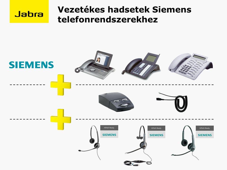 Vezetékes hadsetek Siemens telefonrendszerekhez
