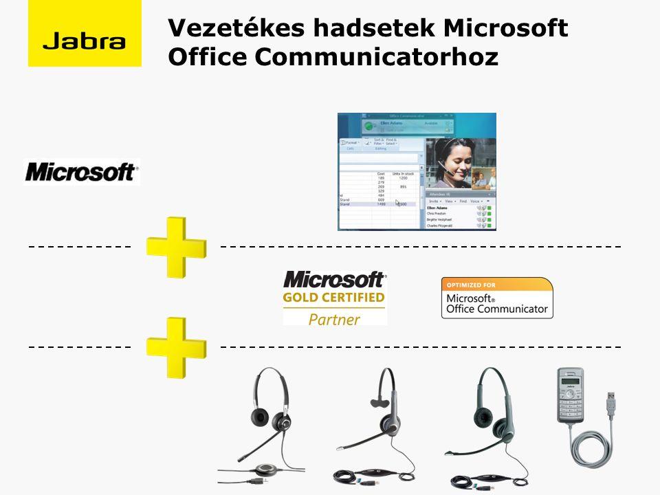 Vezetékes hadsetek Microsoft Office Communicatorhoz