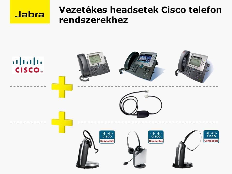 Vezetékes headsetek Cisco telefon rendszerekhez