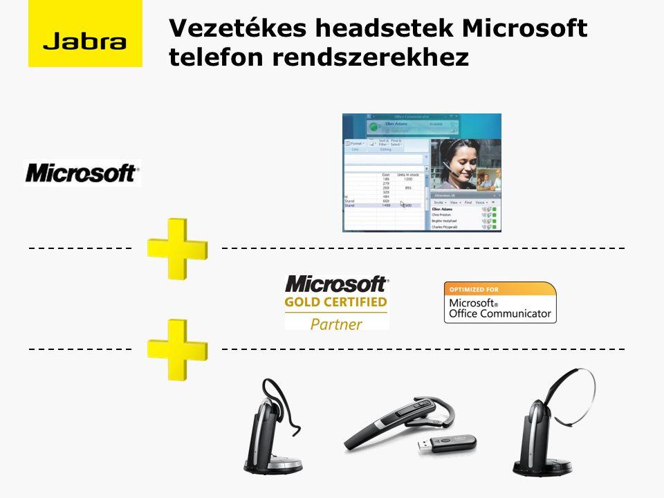 Vezetékes headsetek Microsoft telefon rendszerekhez