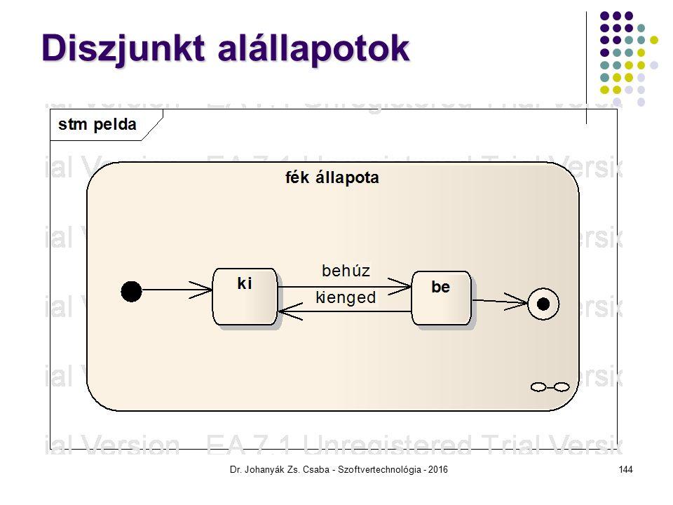 Diszjunkt alállapotok Dr. Johanyák Zs. Csaba - Szoftvertechnológia - 2016144