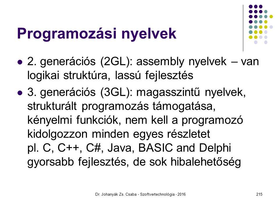 Programozási nyelvek 2.