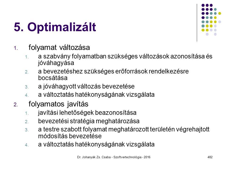 5.Optimalizált 1. folyamat változása 1.