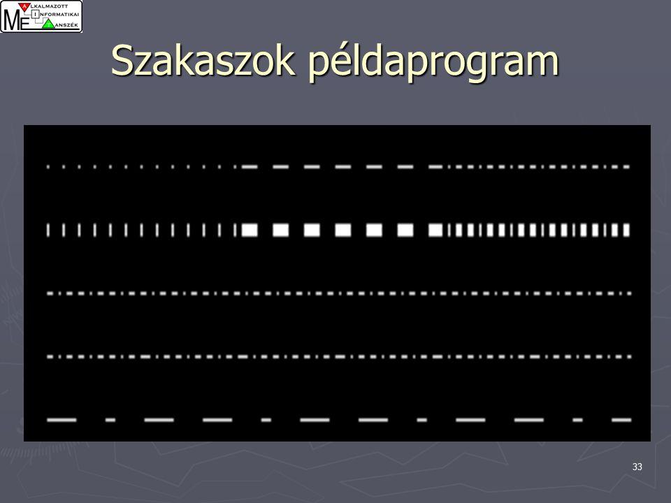 33 Szakaszok példaprogram