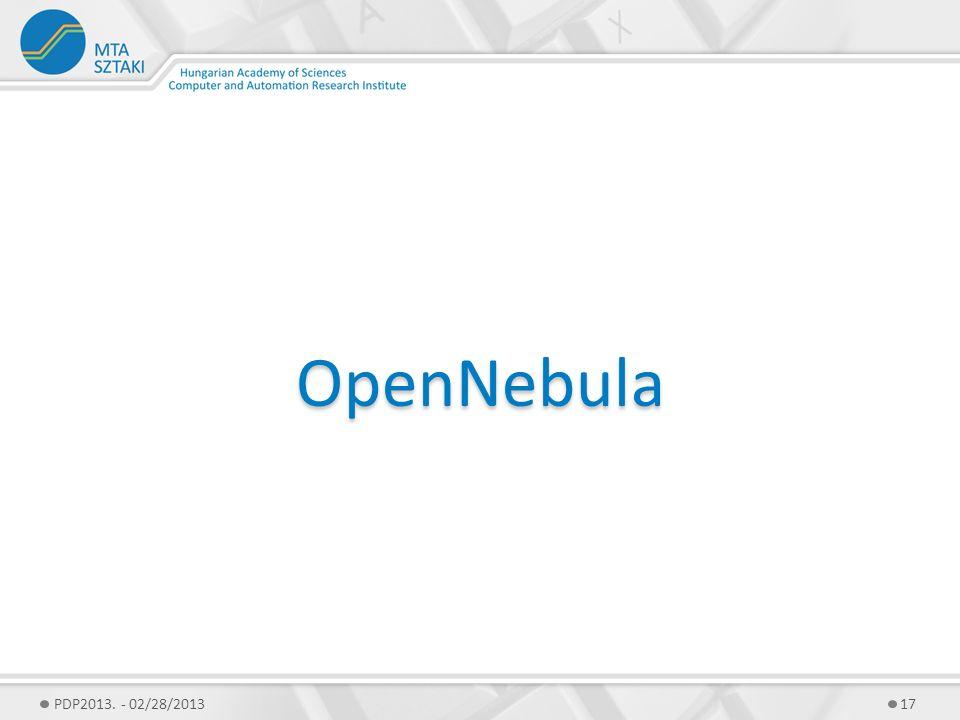 OpenNebula PDP2013. - 02/28/201317
