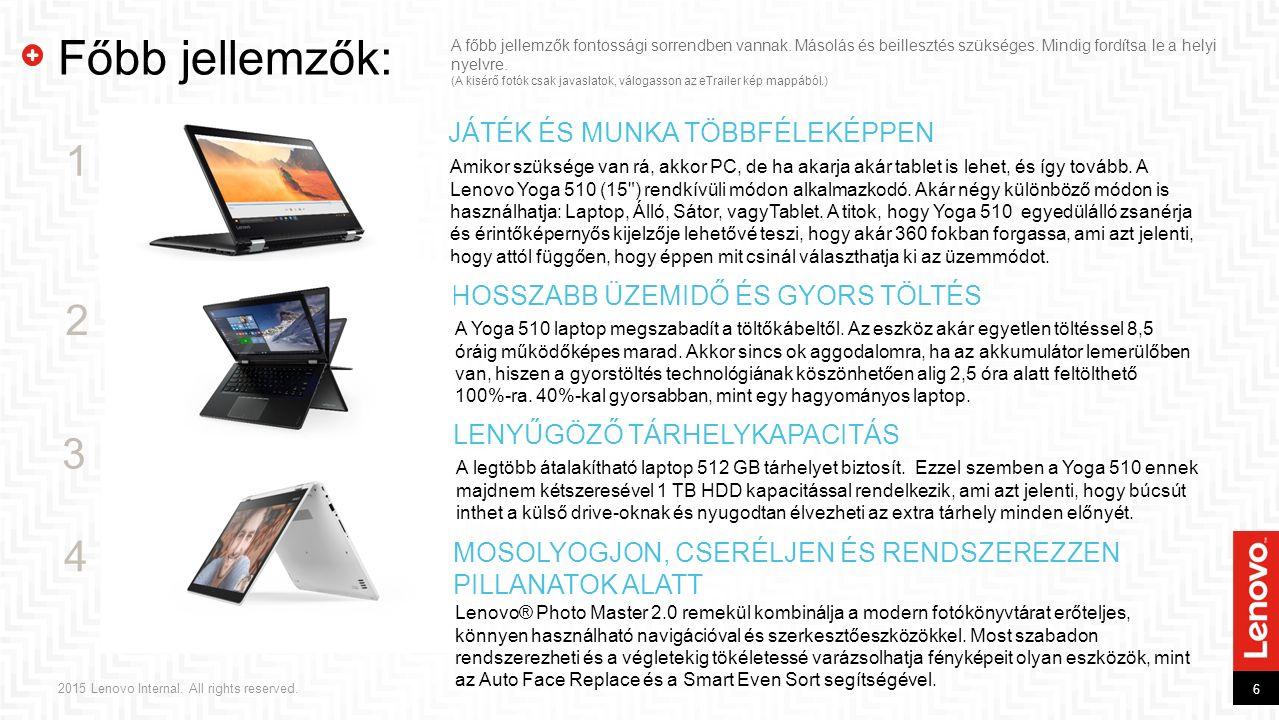 2015 Lenovo Internal. All rights reserved. Fotóalbum