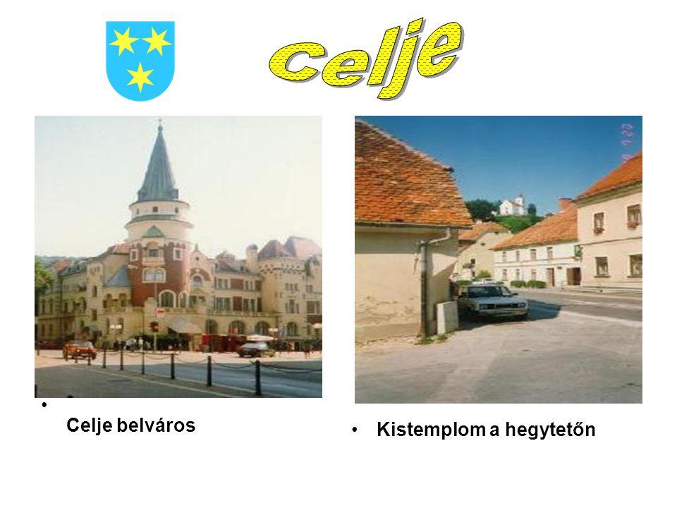Celje belváros Kistemplom a hegytetőn
