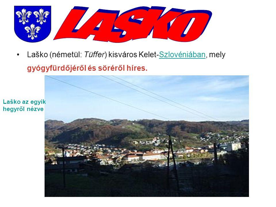 Laško (németül: Tüffer) kisváros Kelet-Szlovéniában, mely gyógyfürdőjéről és söréről híres.Szlovéniában Laško az egyik hegyről nézve