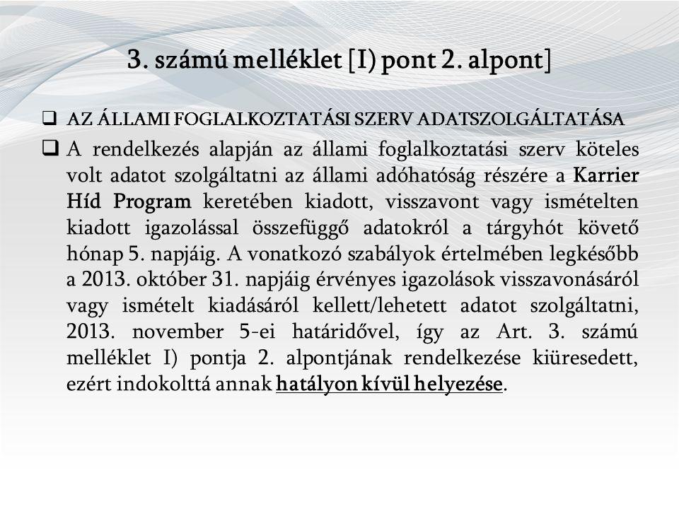 3. számú melléklet [I) pont 2.