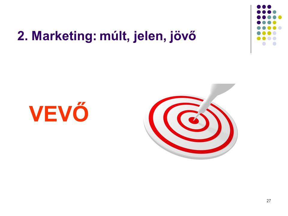 27 2. Marketing: múlt, jelen, jövő VEVŐ