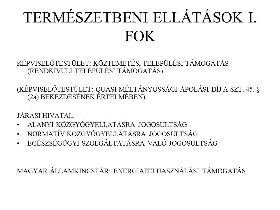 TERMÉSZETBENI ELLÁTÁSOK I.
