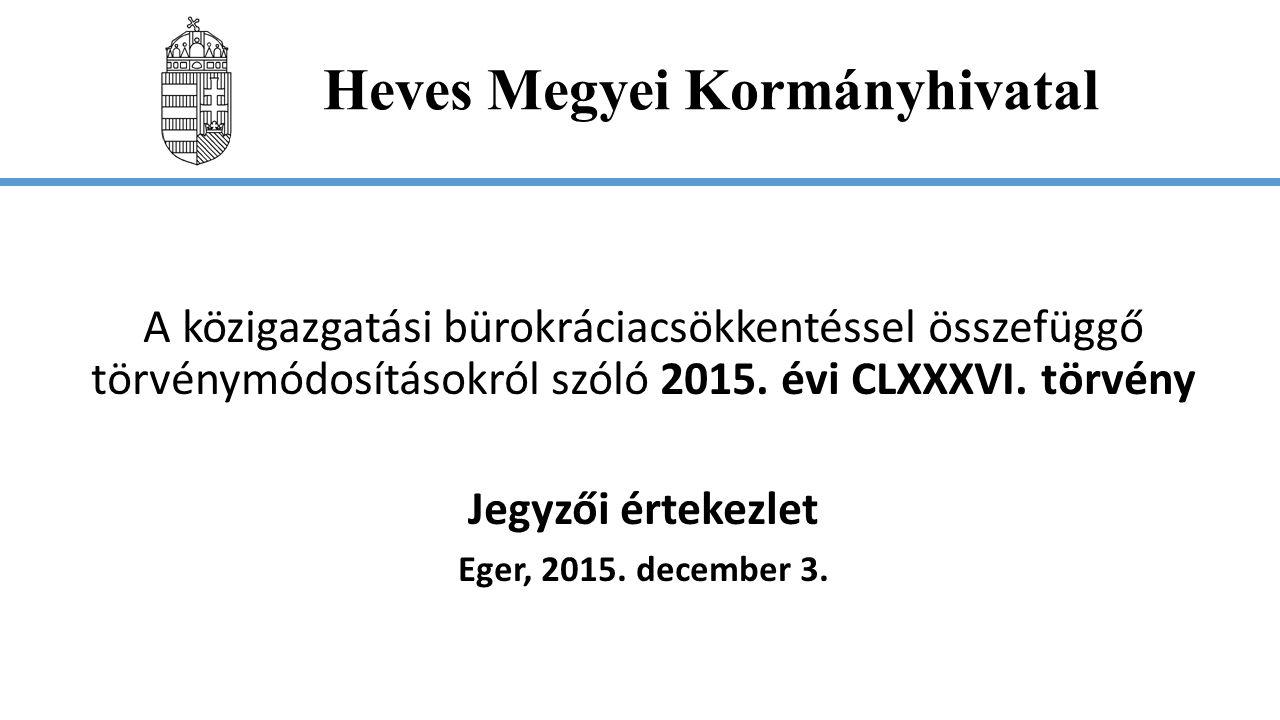 Heves Megyei Kormányhivatal Sommás eljárás A kérelemre induló eljárás sommás eljárás, ha  a tényállás tisztázott  nincs ellenérdekű ügyfél és  az ügyintézési határidő nem haladja meg a 2 hónapot, vagy a 60 napot.