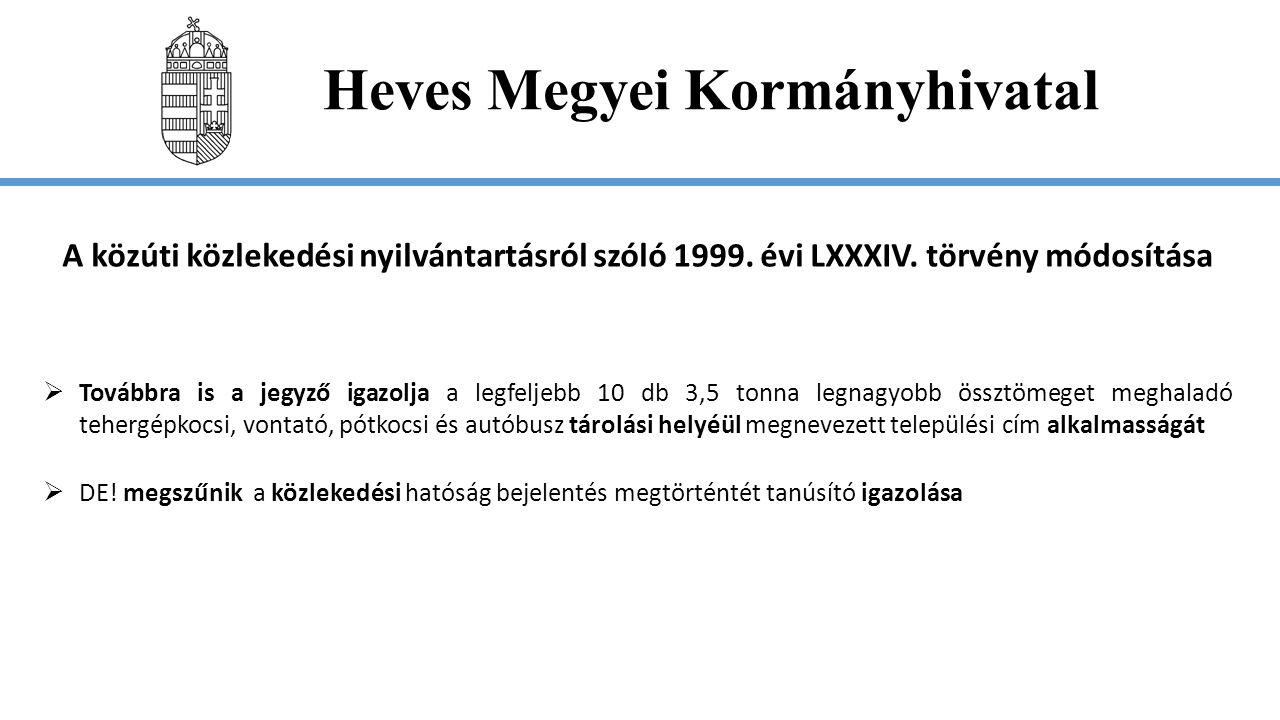 Heves Megyei Kormányhivatal Az adózás rendjéről szóló 2003.