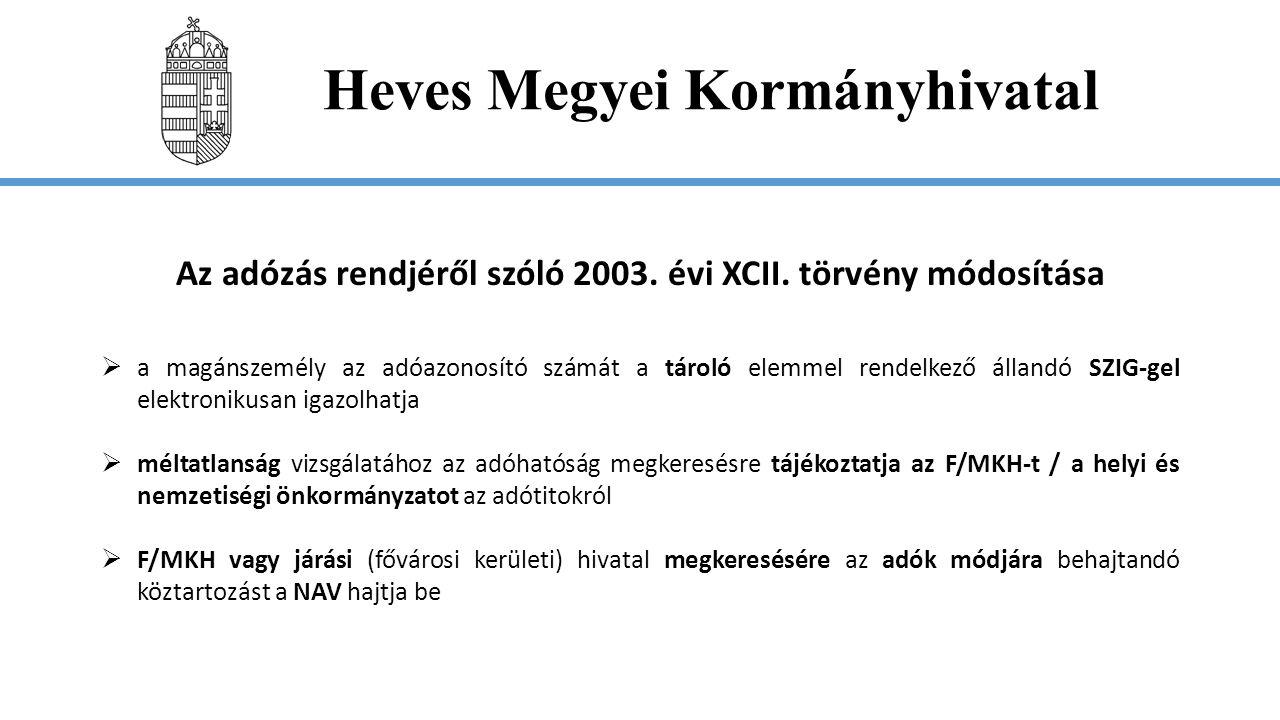 Heves Megyei Kormányhivatal A Ket.