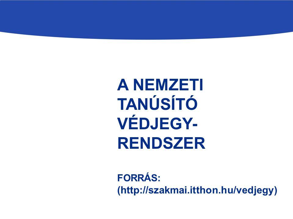 A NEMZETI TANÚSÍTÓ VÉDJEGY- RENDSZER FORRÁS: (http://szakmai.itthon.hu/vedjegy)