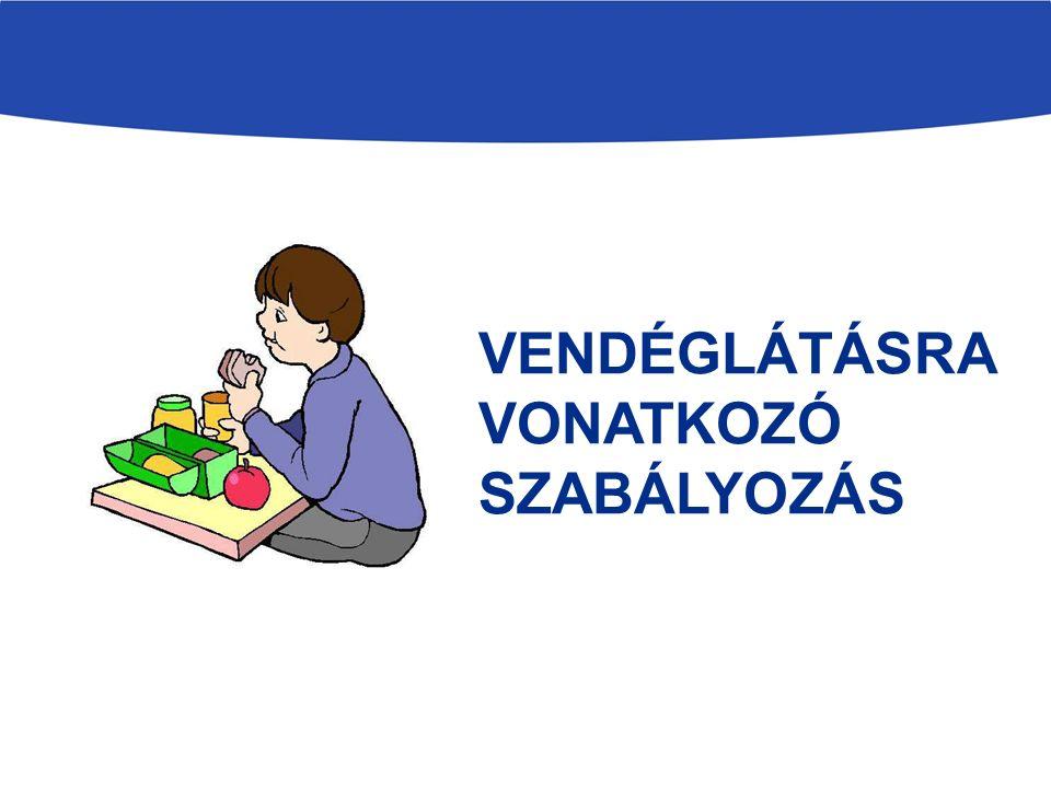 VENDÉGLÁTÁSRA VONATKOZÓ SZABÁLYOZÁS