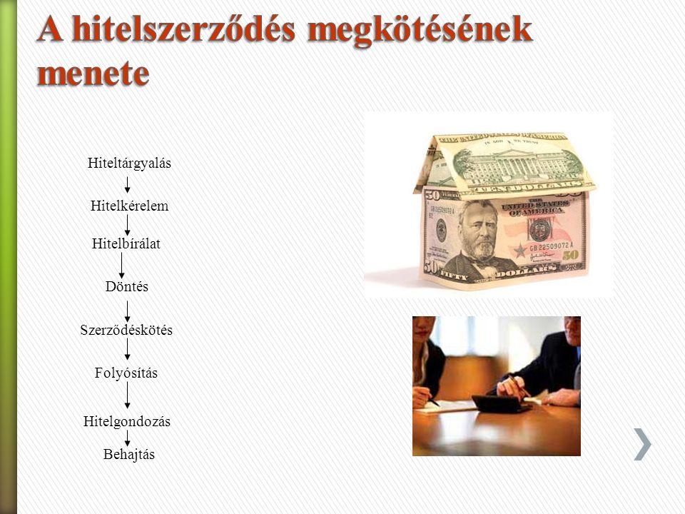 A hitel fogalmát többféleképpen határozzák meg, amelyek közül a legáltalánosabban elfogadott, hogy ˃ a hitelt nyújtó pénzeszközöket, árukat vagy szolgáltatásokat enged át ideiglenesen, kamatfizetés ellenében, illetve ˃ a hitelt felvevő idegen tőkét vesz igénybe meghatározott időre.