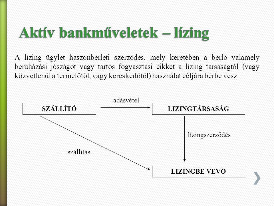 A hiteleket különbözőképpen osztályozhatjuk:  Klasszikus felosztás  Cél szerinti felosztás  Lejárat szerint.