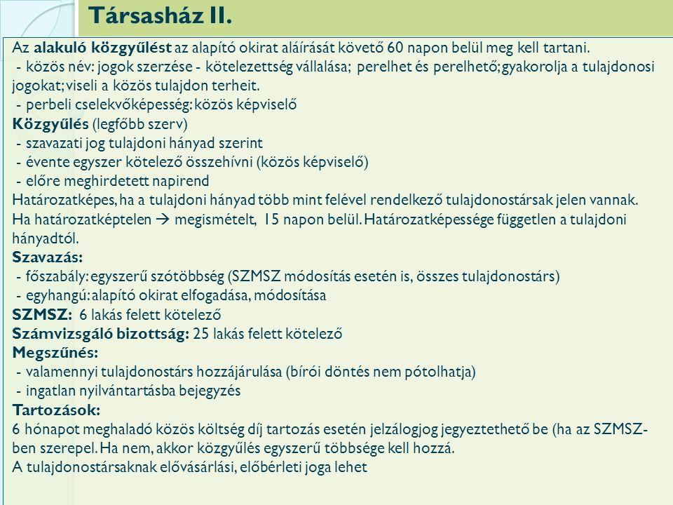 Társasház II.