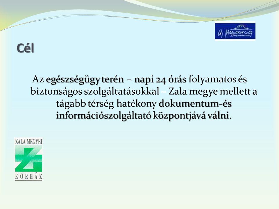Cél egészségügy terén napi 24 órás dokumentum-és információszolgáltató központjává válni.