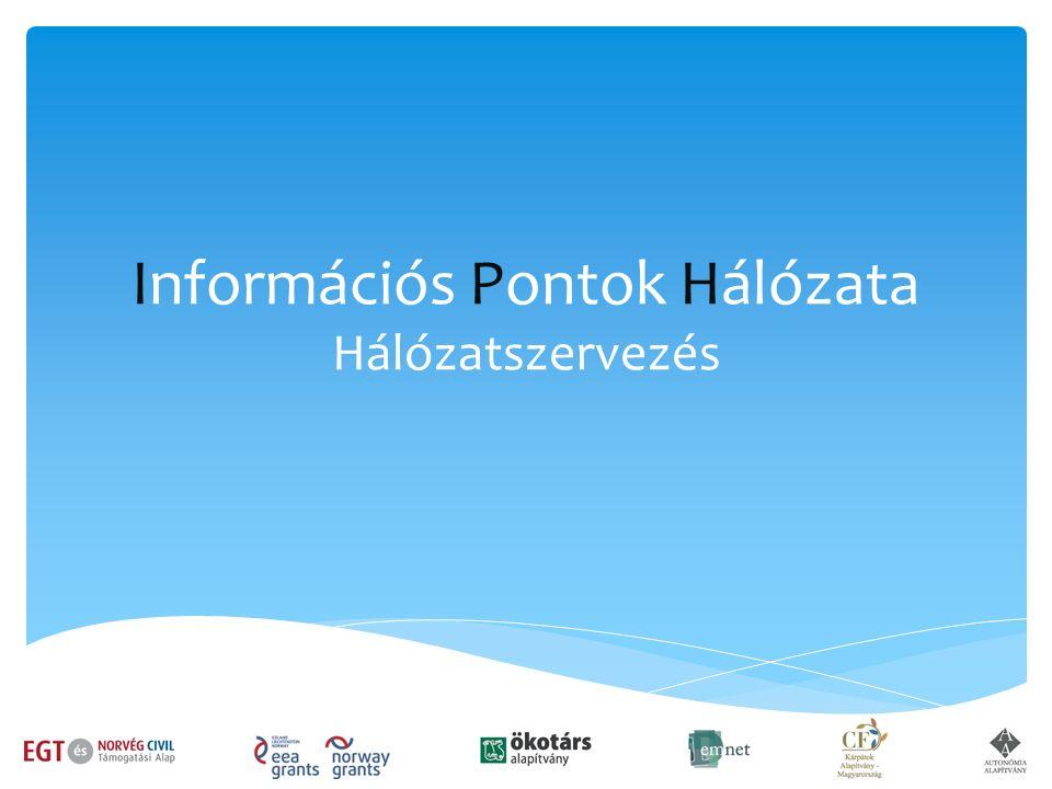 Információs Pontok Hálózata Hálózatszervezés
