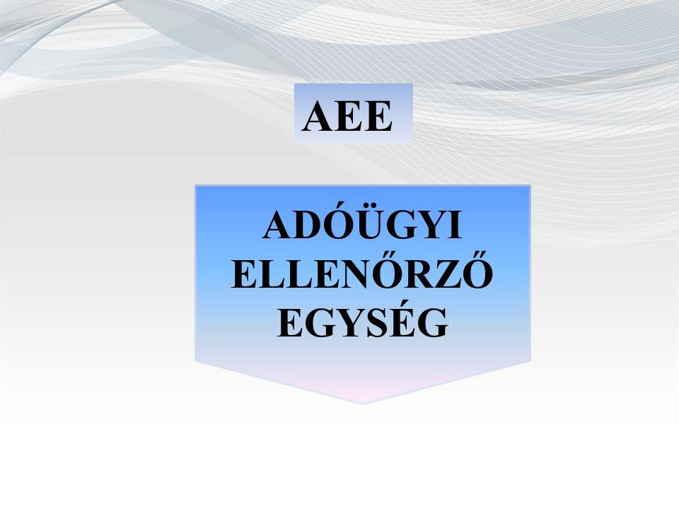 AEE ADÓÜGYI ELLENŐRZŐ EGYSÉG