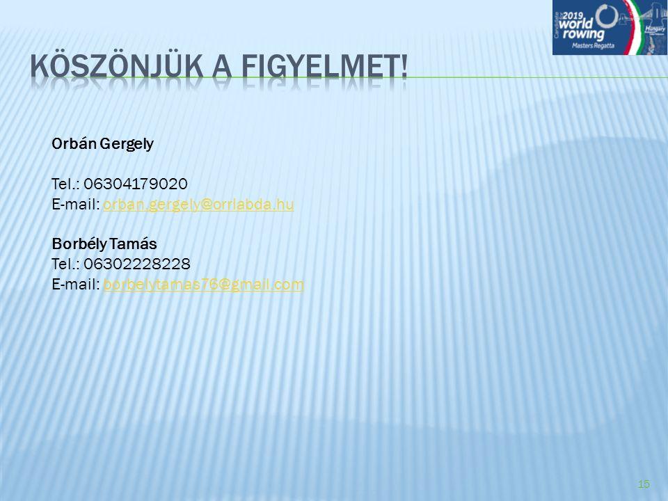 Orbán Gergely Tel.: 06304179020 E-mail: orban.gergely@orrlabda.huorban.gergely@orrlabda.hu Borbély Tamás Tel.: 06302228228 E-mail: borbelytamas76@gmai