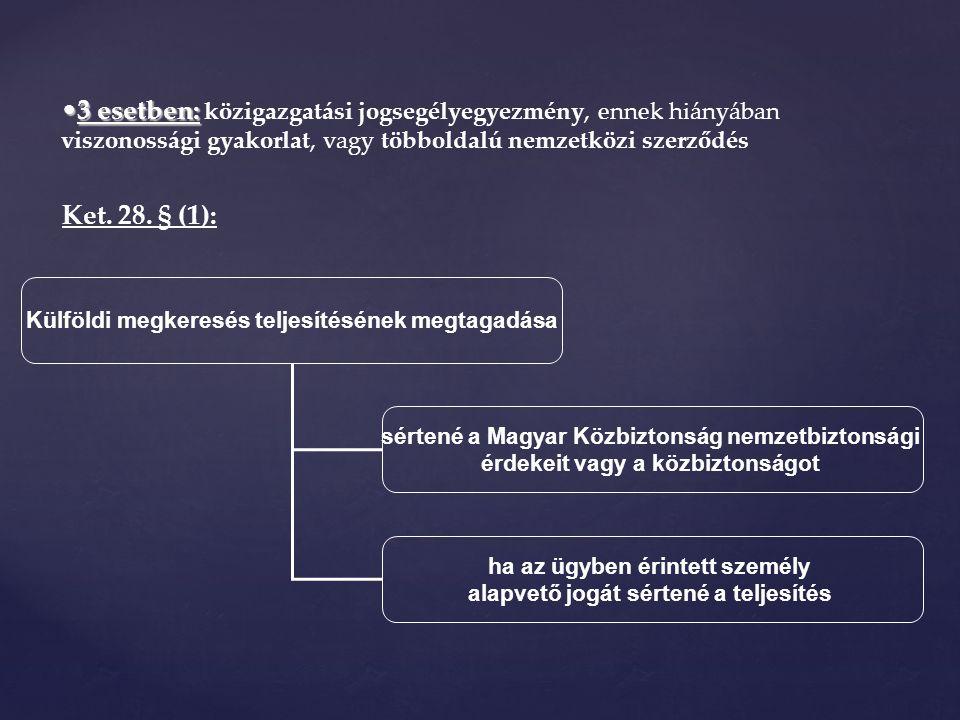 3 esetben:3 esetben: közigazgatási jogsegélyegyezmény, ennek hiányában viszonossági gyakorlat, vagy többoldalú nemzetközi szerződés Ket.